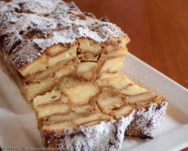 apple apple bread pudding   Bread pudding   Pinterest