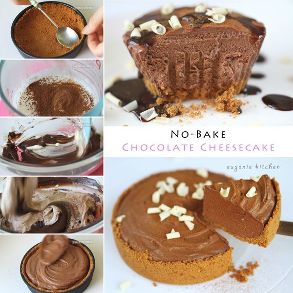 no-bake-chocolate-cheesecake-recipe | Recipes | Pinterest