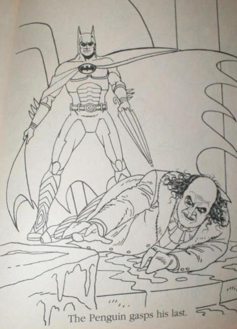 Batman Returns Coloring Page