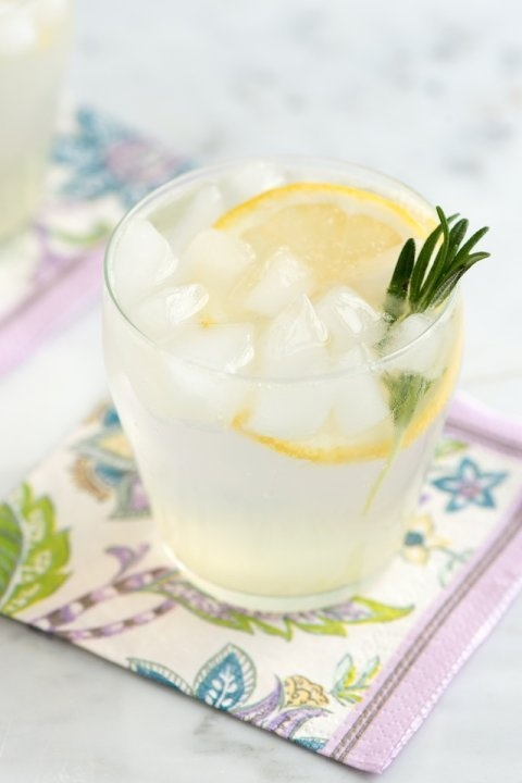 Rosemary Gin Fizz Cocktail Recipe from www.inspiredtaste.net #cocktail