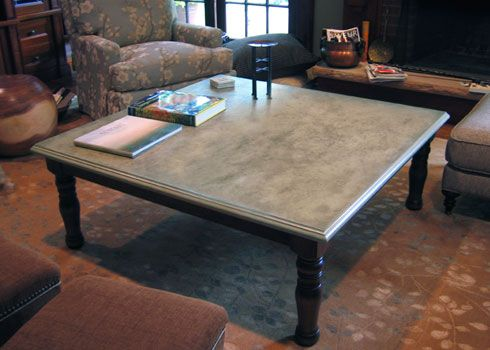 Table top and wood base concrete tables amp table tops trueform