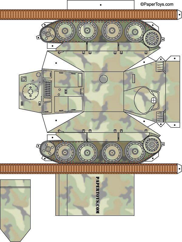 Сделать макет танка из бумаги своими руками 93