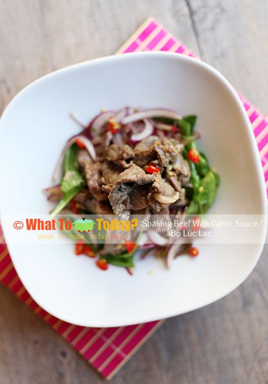 Vietnamese Shaking Beef With Garlic Sauce / Bo Luc Lac