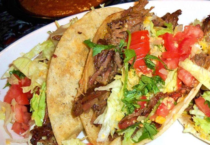 Shredded Beef Tacos, Crockpot Style | yummy food :) | Pinterest
