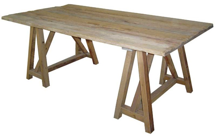 Urbn Sawhorse Dining Table Six New Apartment Pinterest
