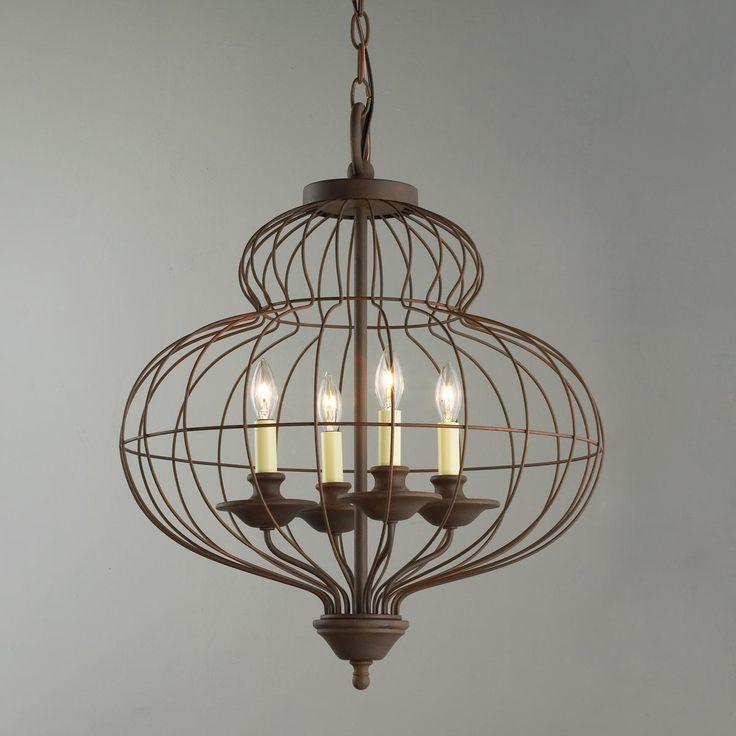 Wire chandelier rustic wire chandelier world market for Rustic wire chandelier