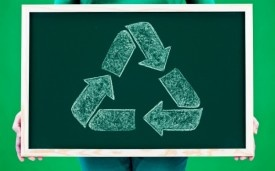 www.recyclebank.com    Recyclebank rewards environmentally friendly actions with points, which are a monetary incentive to recycle. You can also compare your behavior with others on leaderboards in the Recyclebank Ecosystem.    Article from Mashable:  http://mashable.com/2012/04/01/world-at-work-1/