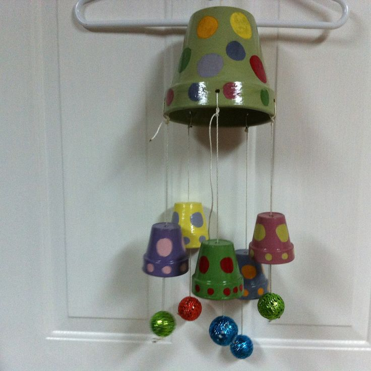 clay pot wind chime crafts and projects for clay pots