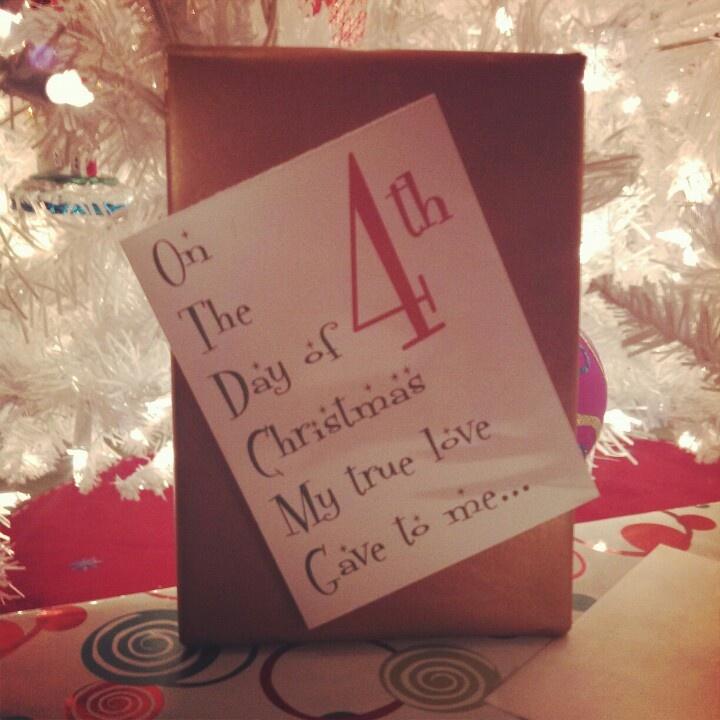 4th Day of Christmas | 12 Days of Christmas for your husband! | Pinte ...