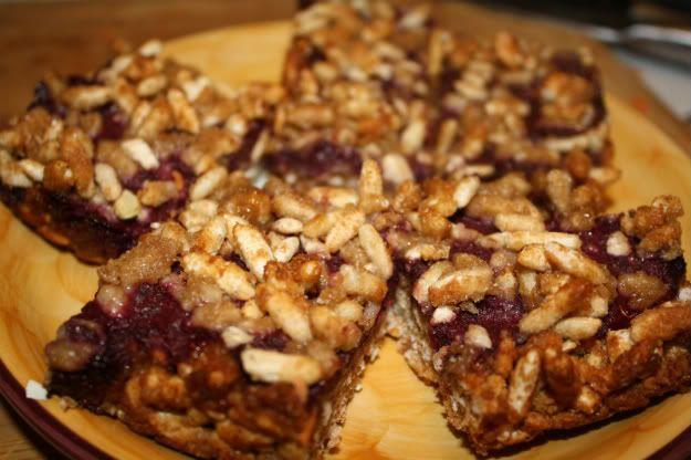 Raspberry Blueberry Streusel Bars | Vegan food | Pinterest
