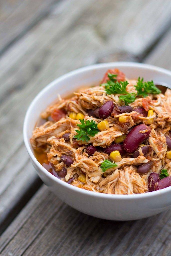Slow-Cooker Chili Chicken Tacos Recipe — Dishmaps