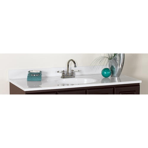 49quot; Classic Vanity Top at Menards  Cabin bathroom remodel ideas  Pi