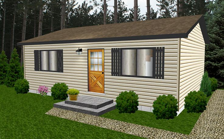 Bernard building center ranch 24x30 cabin floor plans for 24x30 house plans