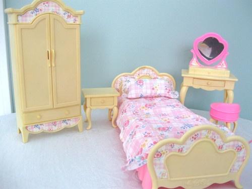 vintage barbie 1996 bedroom set cute pinterest