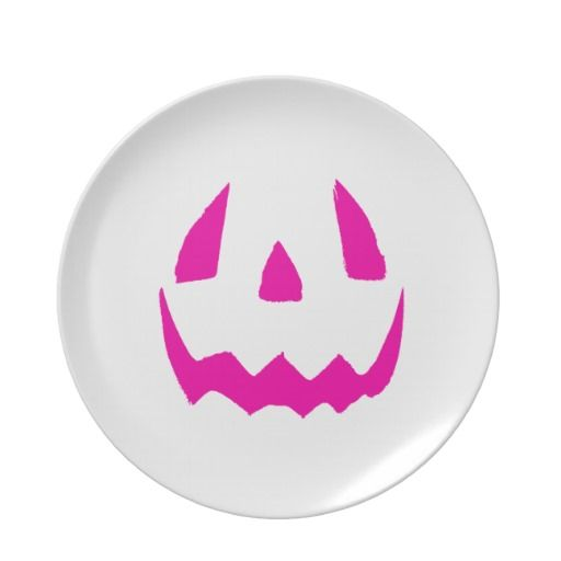 Happy Pink Halloween Party Plates