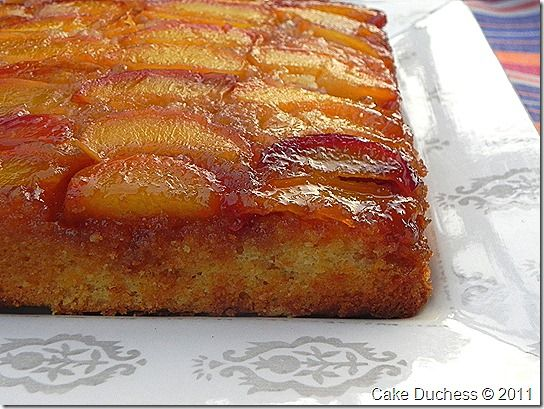 Upside-Down Buttermilk Peach Cake | Yummy desserts | Pinterest