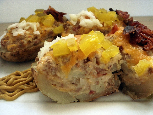 Cheeseburger Baked Potatoes Recipe — Dishmaps