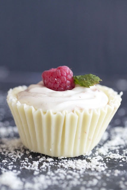 White Chocolate Raspberry Mousse Cups | Decadent Desserts | Pinterest