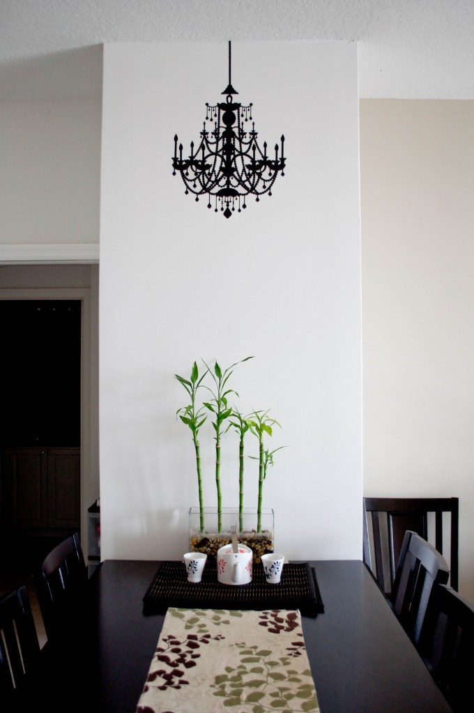target wall decal chandelier