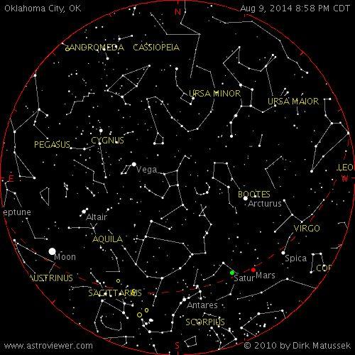 night sky map for over Oklahoma City, OK | My Style | Pinterest