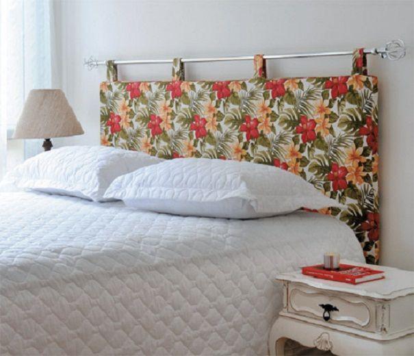 cabeceira de cama box em tecido