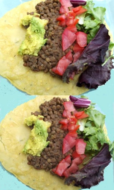 Lentil tacos and home made gf wraps | Food | Pinterest