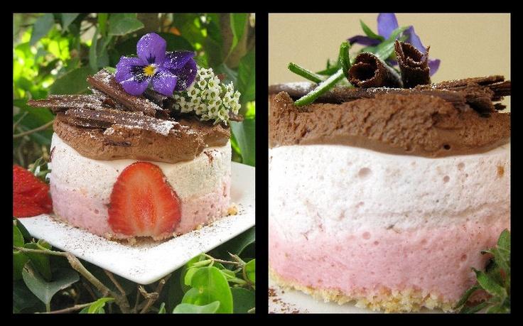 STRAWBERRY CHOCOLATE YOGURT MOUSSE | Food | Pinterest