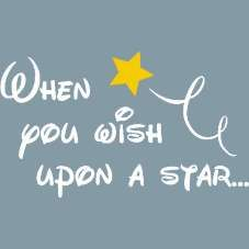 When you wish upon a star whimsical wall lettering design in your ...