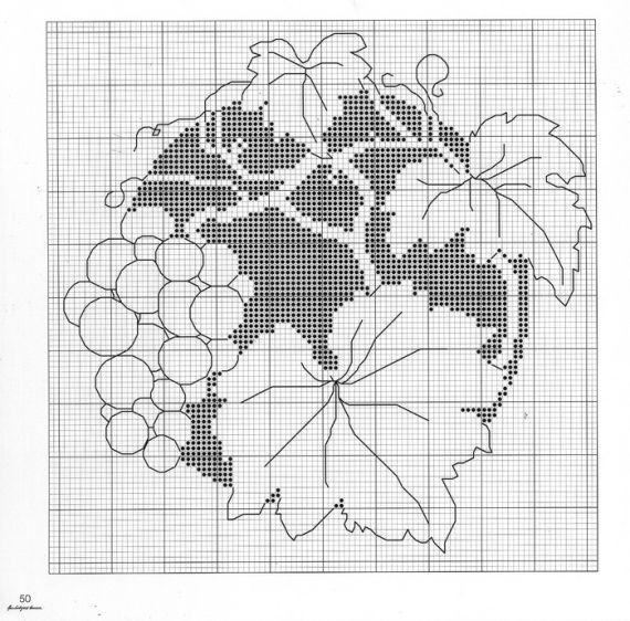 Вышивки монохром цветы 20