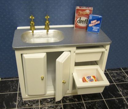 Utility Sink Unit : Utility sink unit ELF Miniatures Doll Houses and Miniatures Pin ...