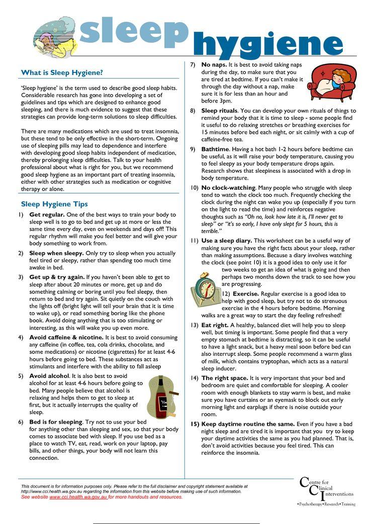 free Info-sleep hygiene | (re) define health | Pinterest