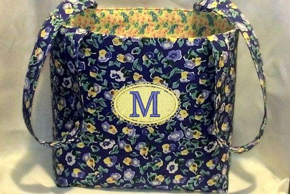 Tote Bag Fabric Handmade Tote Bag Custom by RidgeTopEmbroidery, $22.00