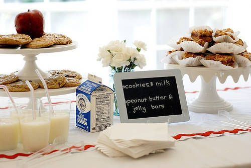 Back to school milk & cookie party