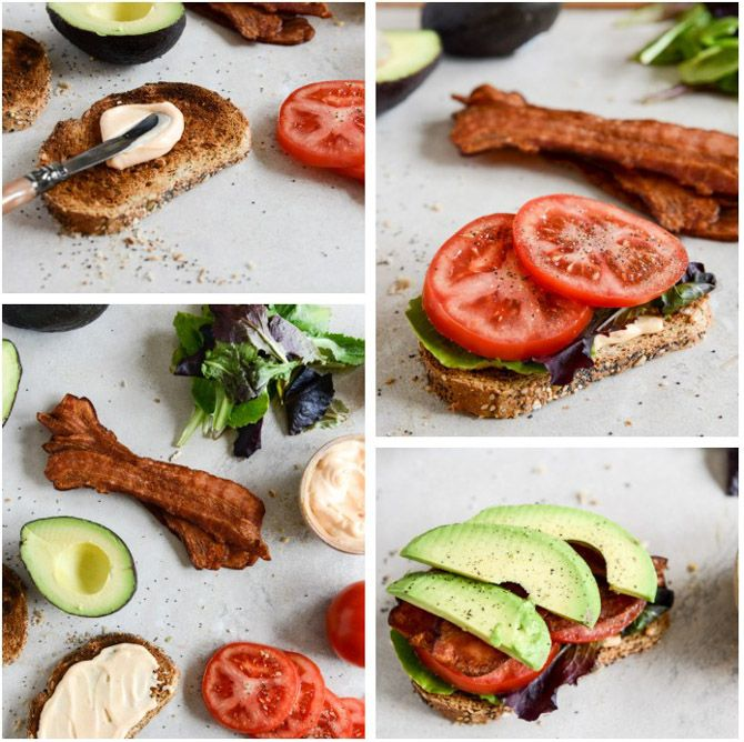 Avocado BLT's with Spicy Mayo and Fried Eggs | Recipe