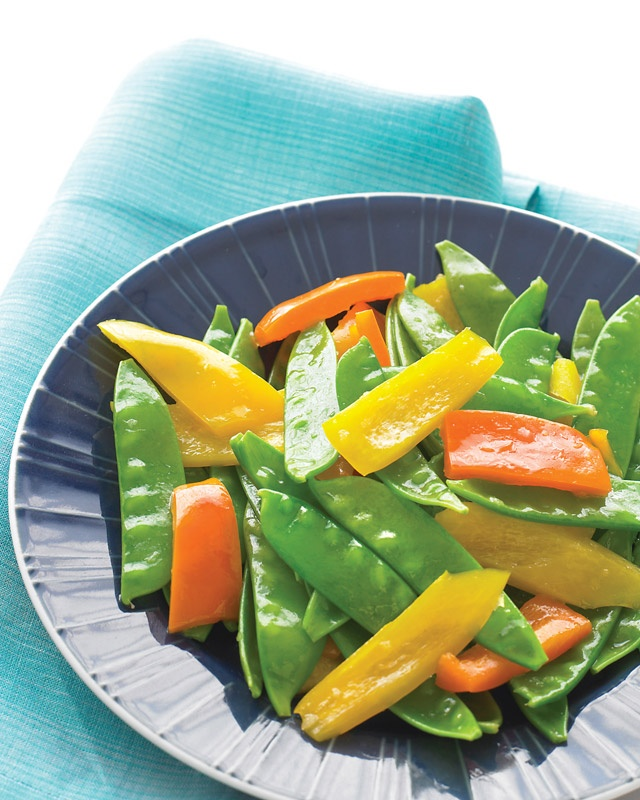 Ginger Snow Peas and Peppers | Recipe