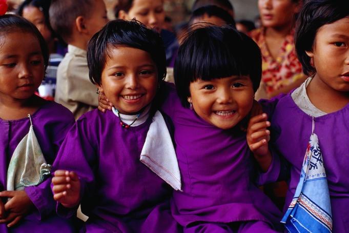Young school girls from kathmandu