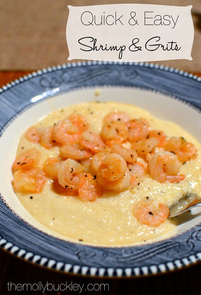 Quick And Easy Shrimp And Grits   Favorite Recipes   Pinterest