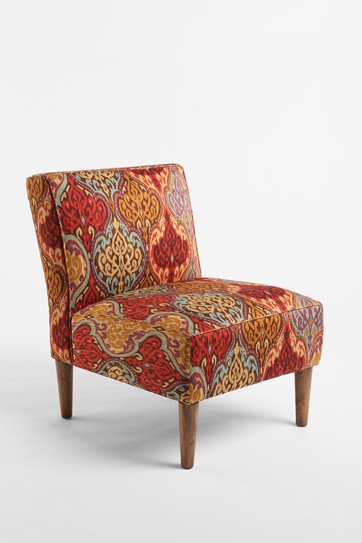 Slipper Chair Rainbow Ikat