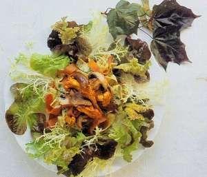 Wild Mushroom Salad with Prosciutto Recipe http://www.mysaladrecipe ...
