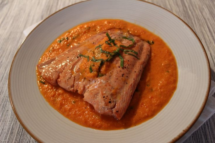 Roasted Salmon With Pink Peppercorn Sauce Recipes — Dishmaps