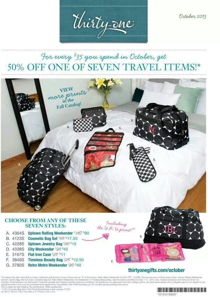 October   Thirty-One Gifts   Pinterest