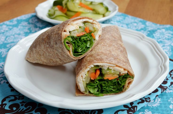 Thai Chicken Wraps | Sandwiches, Tacos & Wraps | Pinterest
