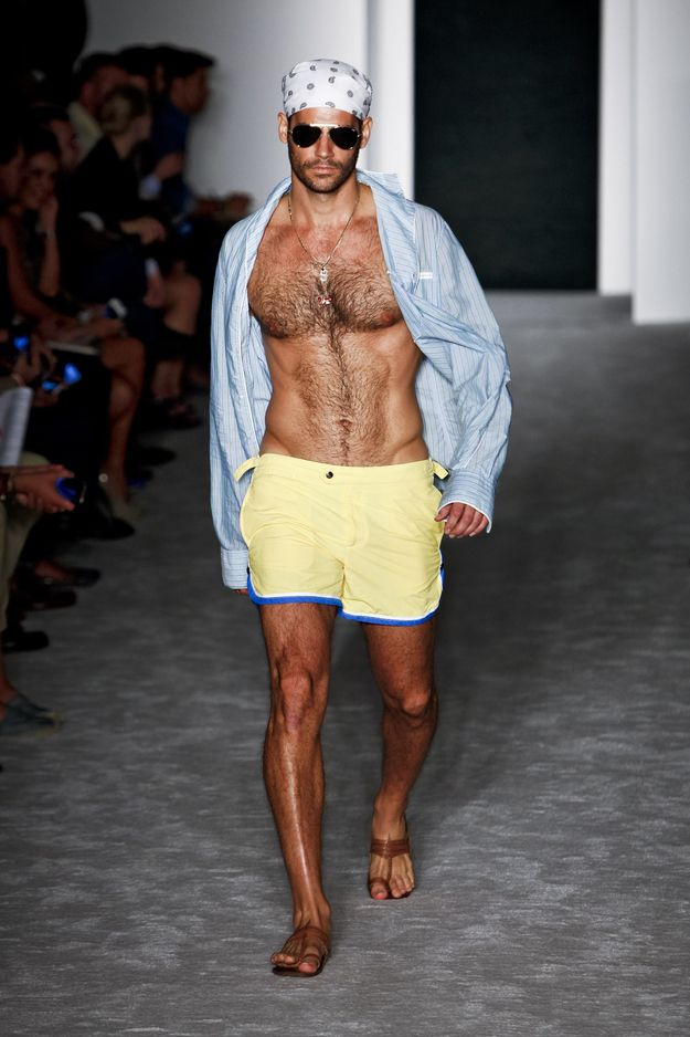 The shirtless male models of new york fashion week for New york models