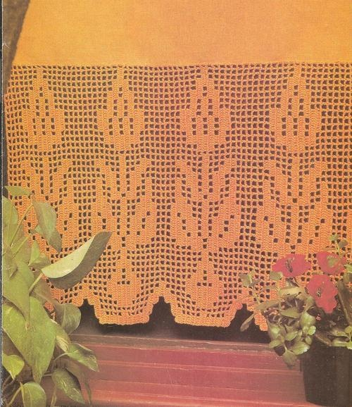 Crochet Patterns Curtains : Thread Crochet Curtain Pattern Filet Curtain Lace