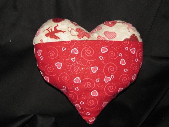 valentine heart pillows