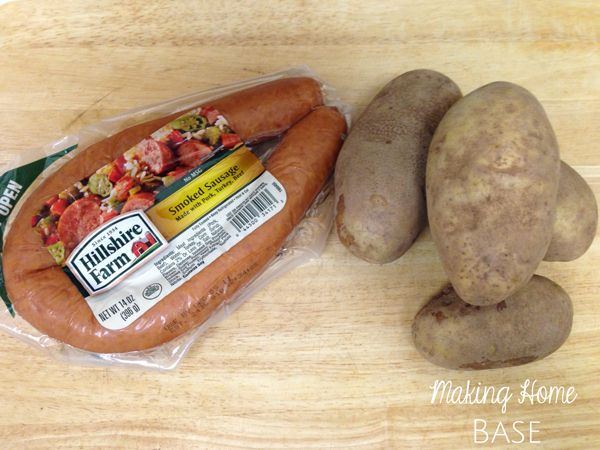 Cheesy Sausage and Potato Bake with Hillshire Farm - Making Home Base
