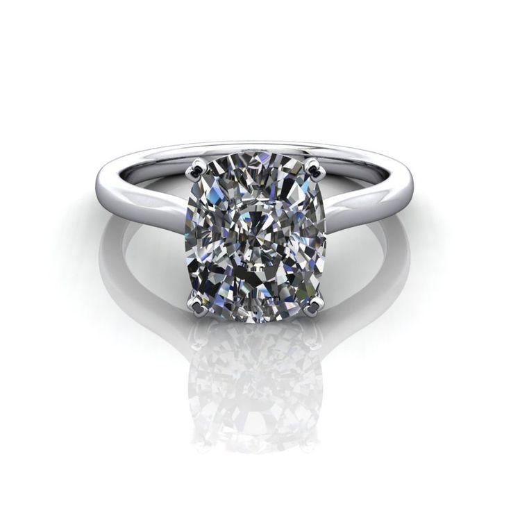 Cushion Cut Diamond Cushion Cut Diamond Solitaire Engagement Ring