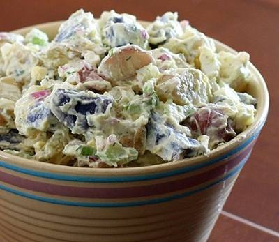 Red, White, and Blue Potato Salad | 1z | Pinterest