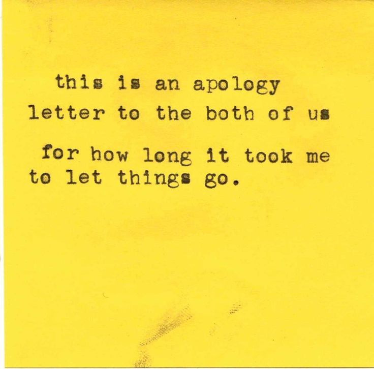 Apology Letter To The Both Of Us