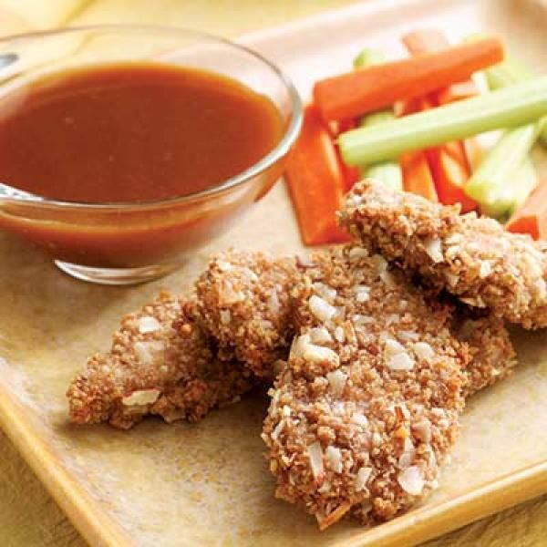 Almond-Crusted Pork with Honey-Mustard Dipping Sauce Recipe | http ...